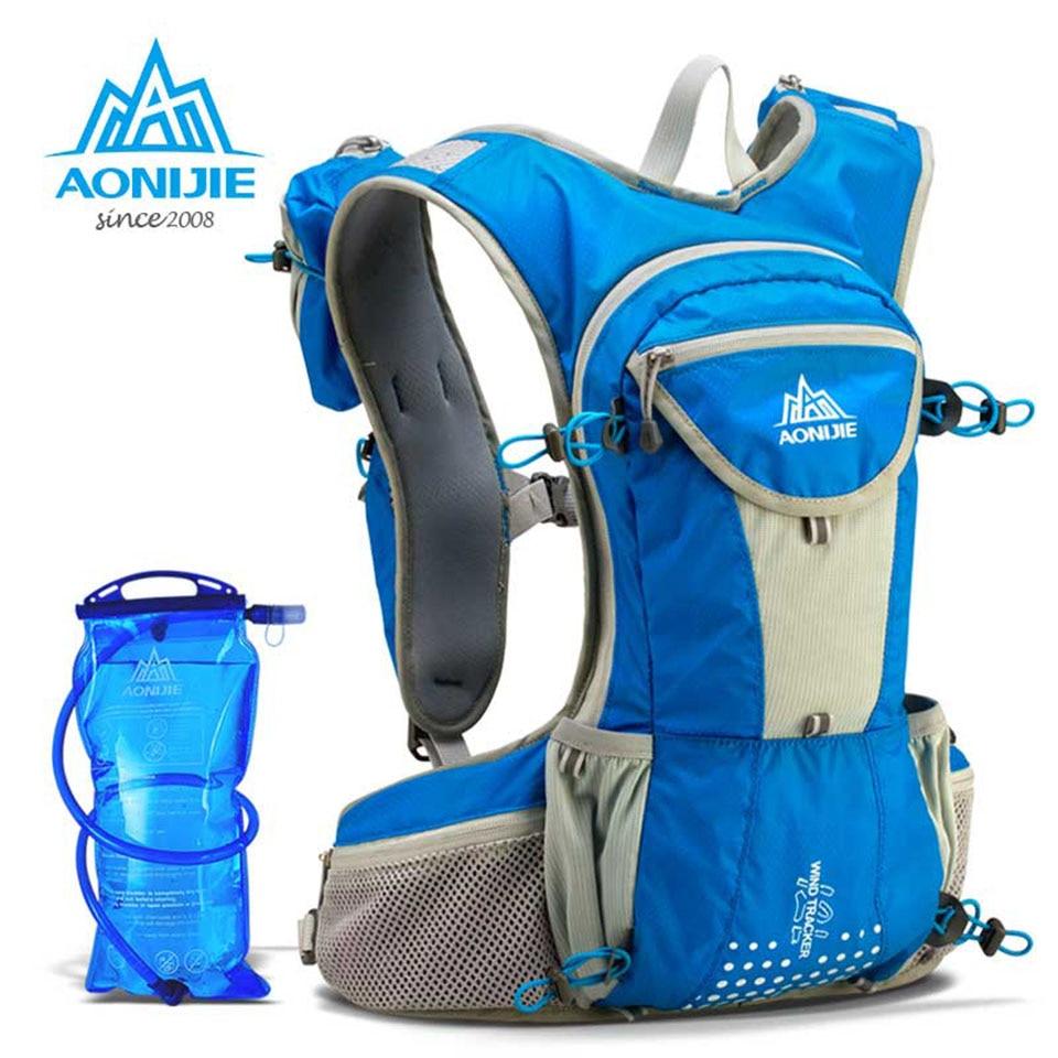 [해외]AONIJIE 12L 러닝 나일론 배낭 야외 경량 수화 물 팩 스포츠 가방 등산 사이클링 하이킹 2L 워터 가방/AONIJIE 12L Running Nylon Backpack Outdoor Lightweight Hydration Water Pack Sport B