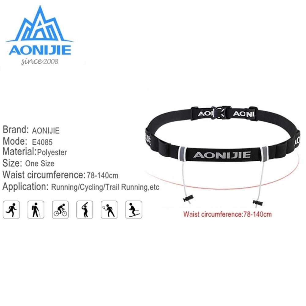 [해외]AONIJIE 남자 여자 경주 벨트 마라톤 달리기 BeltGel 홀더 벨트 트라이 애슬론 마라톤 트레일 경주 달리기/AONIJIE Men Women Race Belt Marathon Running BeltGel Holder Belt for Triathlon Ma