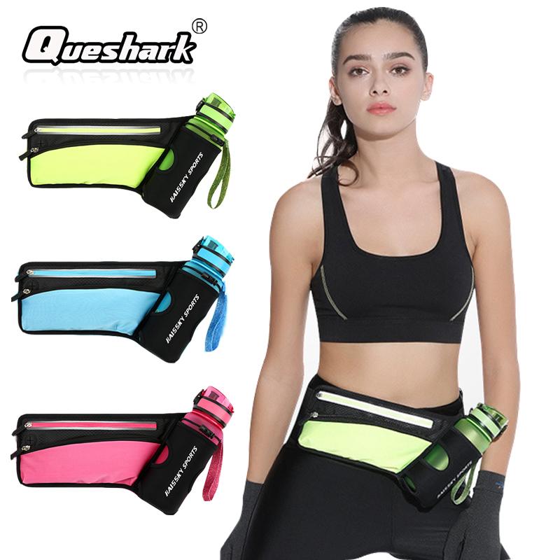 [해외]여자 남자 마라톤 러닝 허리 가방 수화 벨트 반사 스포츠 가방 방수 조깅 체육관 허리 팩 물병없이/Women Men Marathon Running Waist Bag Hydration Belt Reflective Sport Bag Waterproof Jogging