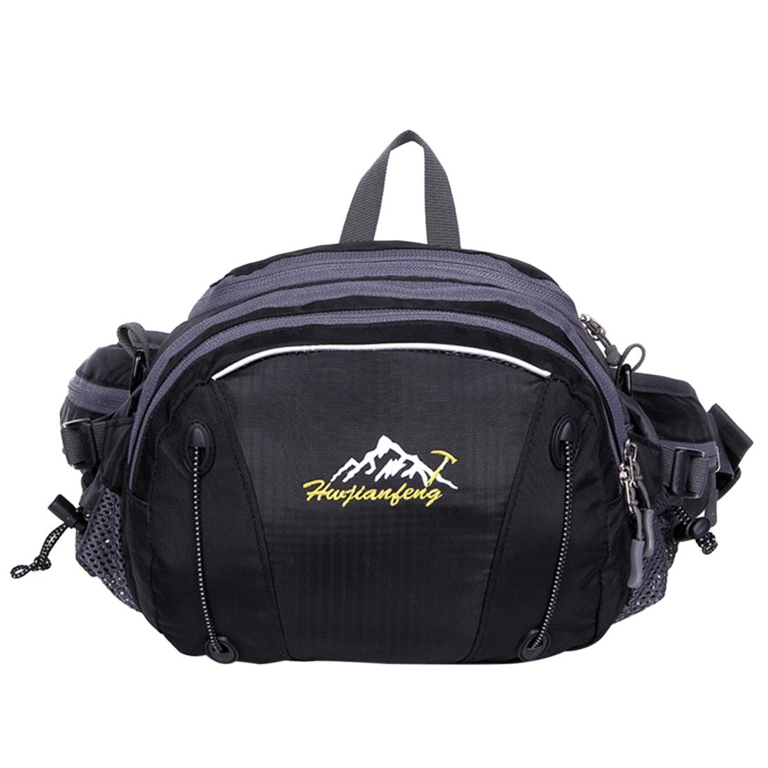 [해외]방수 패브릭 대용량 등산 러닝 등산 가방 허리 팩 사이클링 다기능 허리 가방 - 검정/Waterproof Fabric Large-capacity Mountaineering Running Climbing Bag Waist Packs Cycling Multifunc