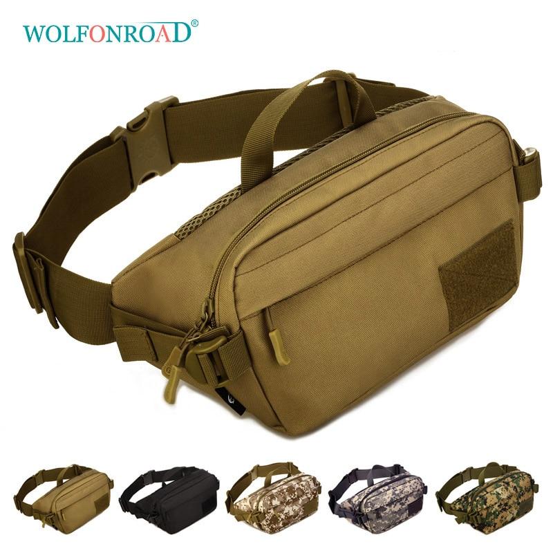 [해외]WOLFONROAD 남자 전술 방한 가방 방수 실행 허리 가방 여성 트렉킹 벨트 가방 야외 하이킹 사냥 가방 L-SHZ-90/WOLFONROAD Men Tactical Waist Bag Waterproof Running Waist Bags Women Trekki