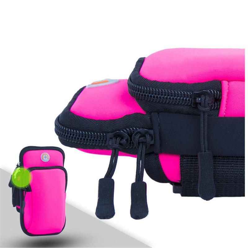 [해외]전문 야외 스포츠 팔 가방 피트니스 더블 지퍼 가방을 실행 모바일 안티 - 잃어버린 된 헤드폰 구멍 남성 여성 손목 가방/Professional Outdoor Sports Arm Bag Running Fitness Double Zipper Bag Mobile A