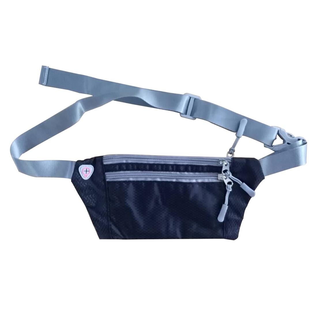 [해외]HU WAI JIAN FENG 4-6 인치 휴대 전화 가방 야외 스포츠 러닝 가방 유니버설 크기 야외 스포츠 허리 가방 - 블랙/HU WAI JIAN FENG 4-6 inch Mobile Phone Bag outdoor sport Running bag Unive