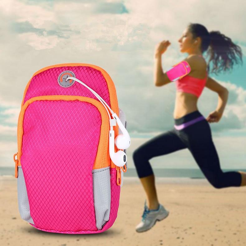 [해외]스포츠 러닝 휴대 전화 팔 가방 피트니스 더블 우편 빛나는 남자 여자 방수 ArmsKeys 작은 변화 가방 손목 가방/Sports Running Mobile phone Arm Bag Fitness Double Zip Luminous Men Women Waterp