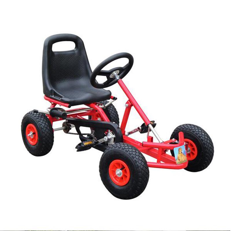 [해외]아이들은 이동 카트 라이드에 고무 바퀴 스포츠 레이싱 장난감 세발 자전거 자동차 리코를 페달/Kids Pedal Go Kart Ride On Rubber Wheels Sports Racing Toy Trike Car RICCO