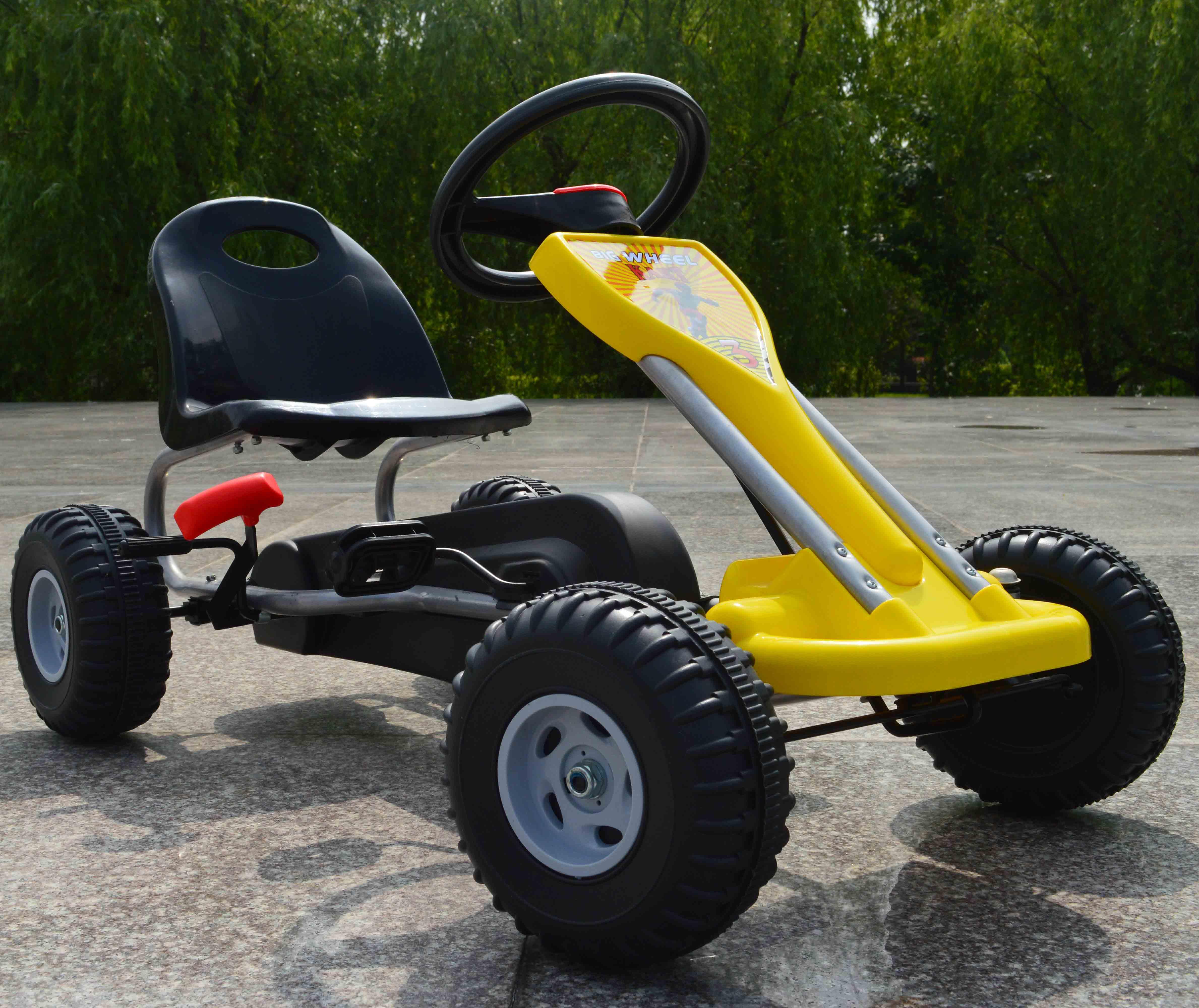 [해외]2-6 세 아이들 손 브레이크 페달 이동 카트 3 색/2-6 age Children hand brake pedal go karts 3 colors