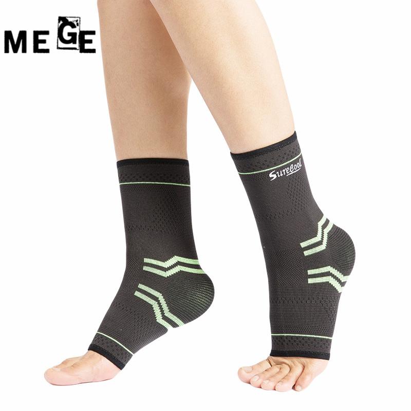[해외]MEGE 1 쌍 고 탄력 붕대 압축 편물 스포츠 프로텍터 농구 축구 발목 지원 투 빌러, 댄스 프로텍터/MEGE 1 Pair High Elastic Bandage Compression Knitting Sports Protector Basketball Soccer