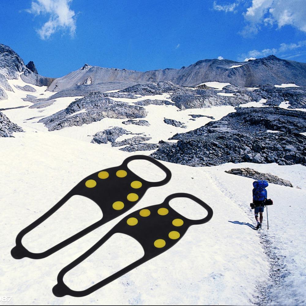[해외]검은 고무 열가 소성 및 탄성 내구성 얼음 눈 안티 스키드 구두 스파이크 그립 스펀지 하이킹 낚시/Black RubberThermoplasticity and Elasticity Durable Ice Snow Anti Skid Shoe Spikes Grips Cr