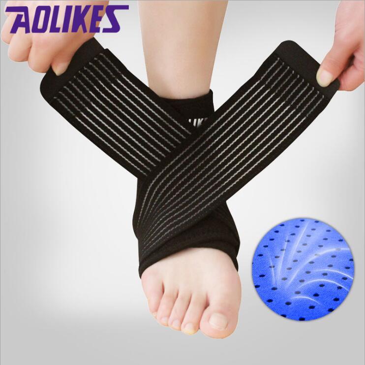 [해외]1PCS 네오프렌 보호 강화 Enwind 발목 지지대 Brace Wrap 탄성 Breathable 발목 지원 Guard Strap Belt/1PCS Neoprene Strengthen Protection Enwind Ankle Support Brace Wrap