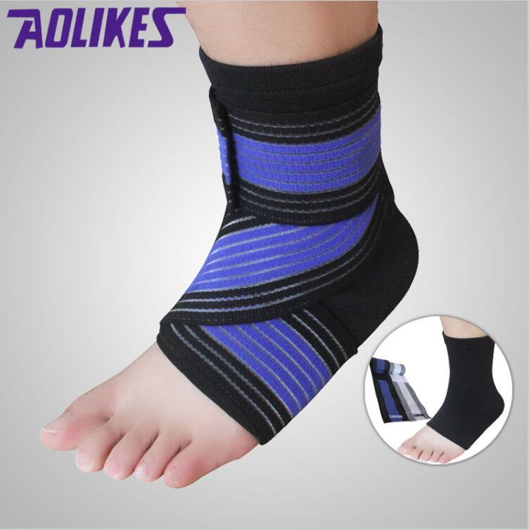 [해외] 1PCS 전문 스포츠 발목 스트랩 랩 붕대 탄성 발목 지원 중괄호 실행중인 헬스/Dropshipping 1PCS Professional Sports Ankle Strain Wraps Bandages Elastic Ankle Support Brace Protec