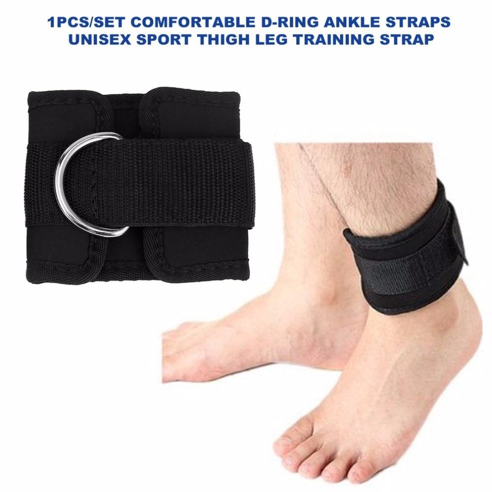 [해외]D- 링 앵클 스트랩 벨트 멀티 체육관 케이블 연결 대퇴 다리 풀리 스트랩 운동 운동 훈련 장비 리프팅/D-ring Ankle Strap Belt Multi Gym Cable Attachment Thigh Leg Pulley Strap Lifting Fitnes