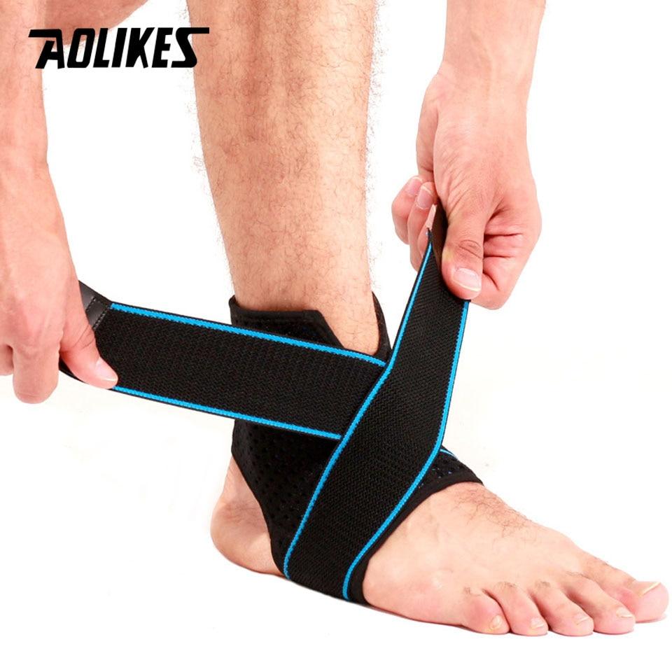 [해외]AOLIKES 1pcs 스포츠 발목 스트랩 랩 지원 프로텍터 탄력 붕대 사이클링 운동 하이킹 등산에 대 한 압력/AOLIKES 1Pcs Sport Ankle Strap Wrap Support Protector Elastic Bandage Pressurized F