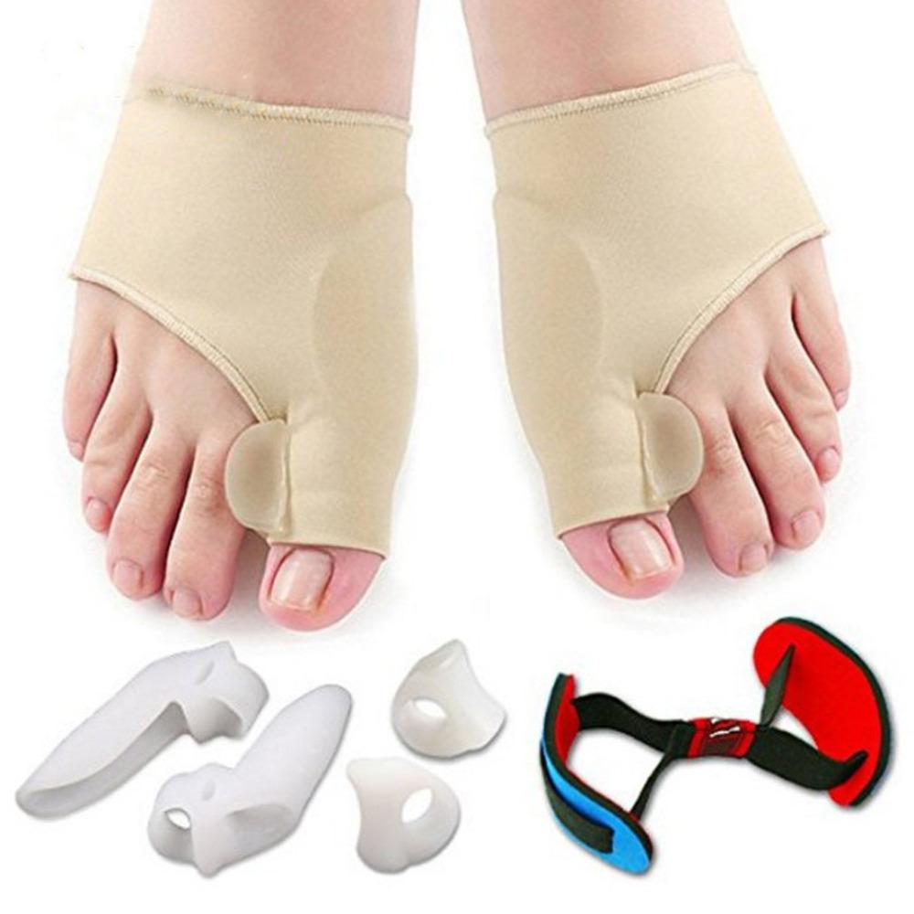 [해외]7 조각 Soft Bunion Protector 정면 스트레이트 너 발가락 분리 실리콘 토우 분리기 Thumb Valgus Feet Care 발 통증 완화 용이/7 Pieces Soft Bunion Protector Toe Straightener Toe Sepa