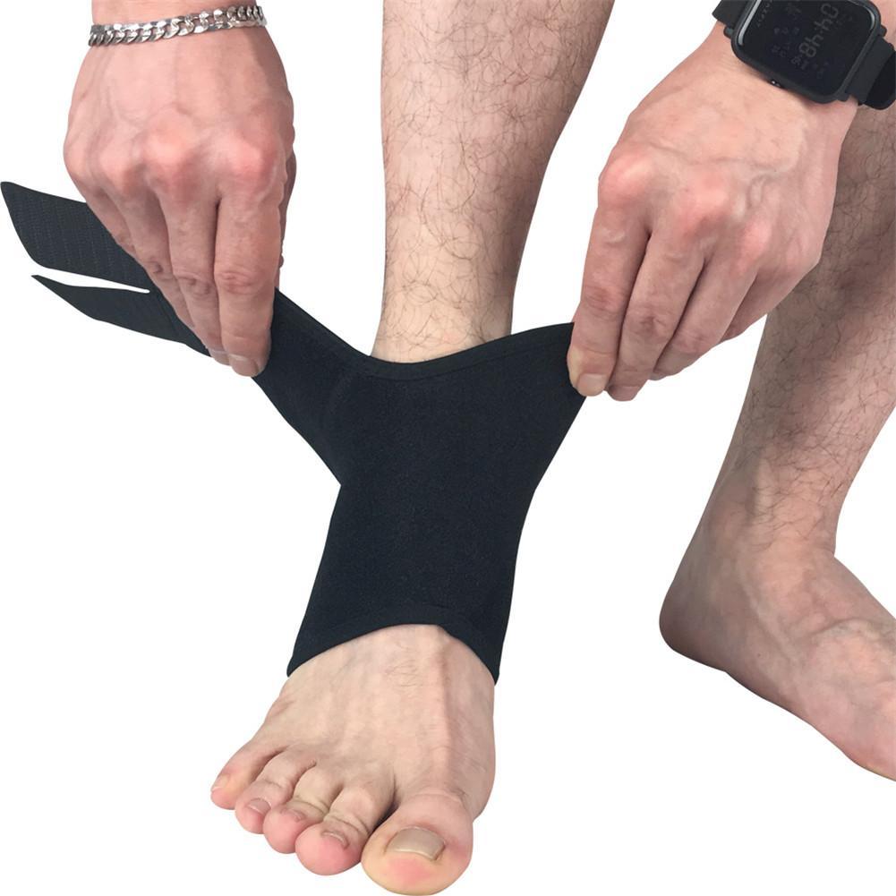 [해외]1 PC / 팩 검정 조정 가능한 발목 지원 스포츠 안전 발목 중괄호 지원 안발 싸움 볼 운동 경기 용/1 PC/Pack Black Adjustable Ankle Support Sports Safety Ankle Brace Support Stabilizer Fo