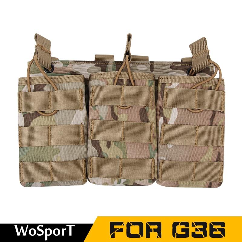 [해외]위장 전술 잡지 주머니 군대 MOLLE 조끼 벨트 사냥 유틸리티 손전등 가방 G36 WoSporT에 대한 저장 가방/Camouflage Tactical Magazine Pouch Military Army MOLLE Vest Belt Hunting Utility
