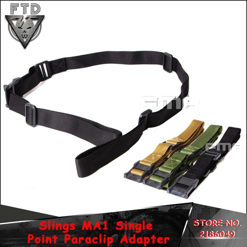 [해외]FMA 전술 사냥 슬링 MA1 단일 포인트 Paraclip 어댑터 TB1116 BK DE OD/FMA Tactical Hunting Slings MA1 Single Point Paraclip Adapter TB1116 BK DE OD