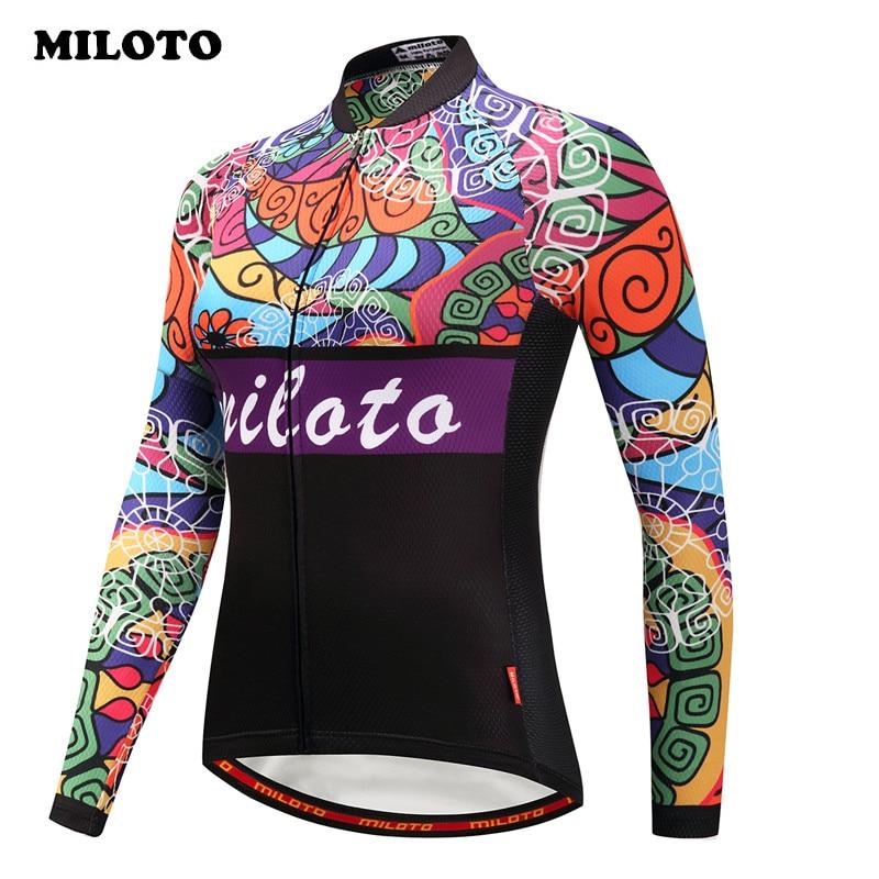 [해외]Miloto 프로 팀 겨울 사이클링 저지 여성 레이싱 스포츠 자전거 의류 열 양털 긴 Retail 방풍 MTB 자전거 저지/Miloto Pro Team Winter Cycling Jersey Women Racing Sport Bicycle Clothing The