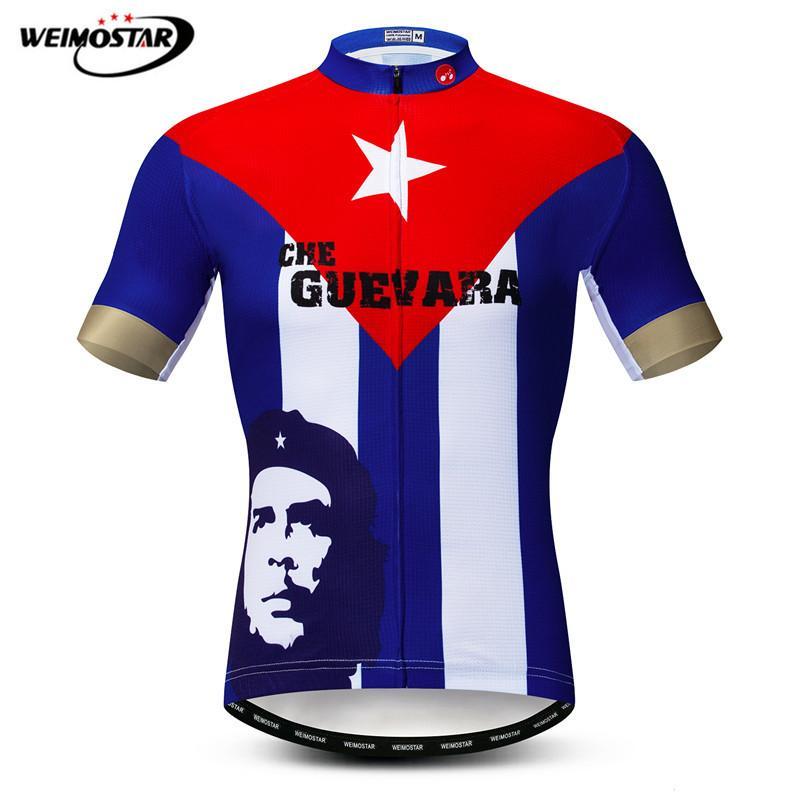 [해외]체 게바라 영웅 남자 사이클링 저지 셔츠 100 % 폴리 에스테르 짧은 Retail 자전거 의류 빠른 건조 MTB 자전거 저지/Che Guevara Hero Men Cycling Jersey Shirt  100% Polyester Short Sleeve Bicy