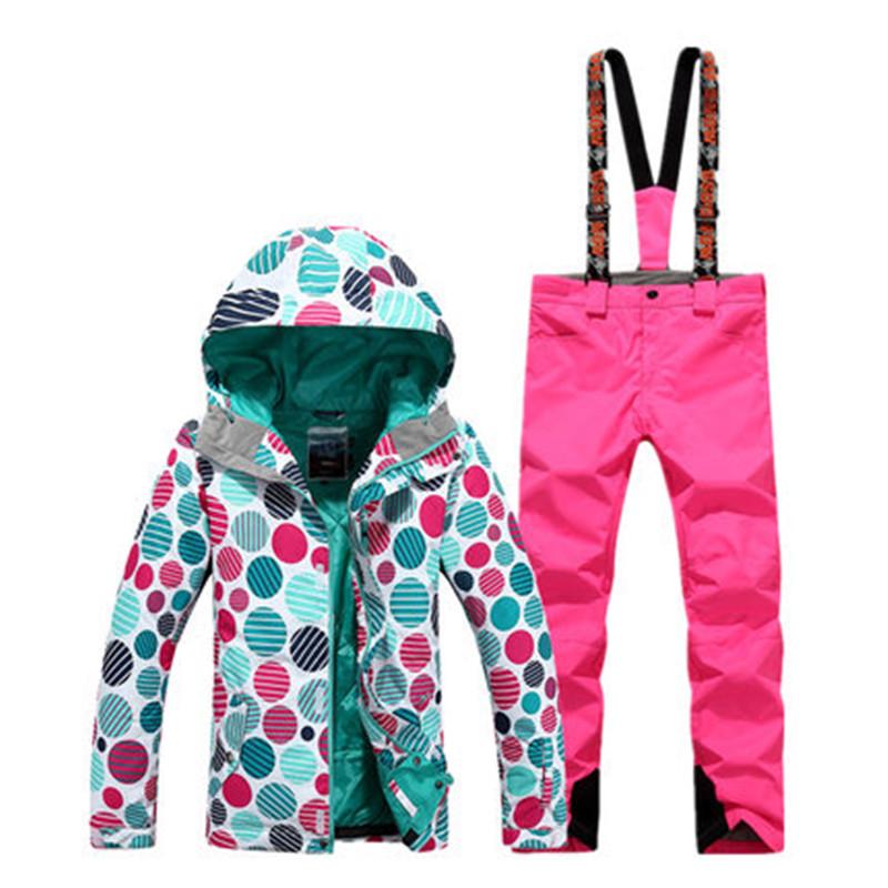 [해외]Gsou 눈 파도 포인트 스키 정장 방풍 두꺼운 따뜻한 한국 스타일 여성 방수 방풍/Gsou snow wave point ski suit  women`s suit  windproof  waterproof  thick and warm  Korean style