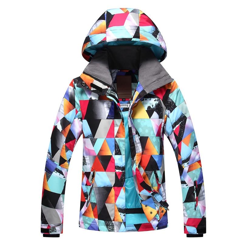 [해외]2018 Gsou 눈 새 방수 통기성 스키 복 여성 야외 방풍 등산 따뜻한 숙녀 스키 의류/2018 Gsou snow new waterproof breathable ski suit women outdoor windproof mountaineering warm l