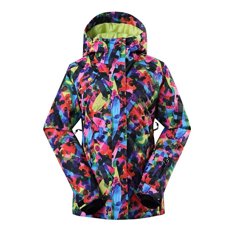 [해외]2018 Gsou Snow Ladies Ski Suit 야외 방수 방풍 단일 보드 스키 의류 색상 여성 자켓/2018 Gsou Snow Ladies Ski Suit outdoor Wear-resistant waterproof windproof single boa