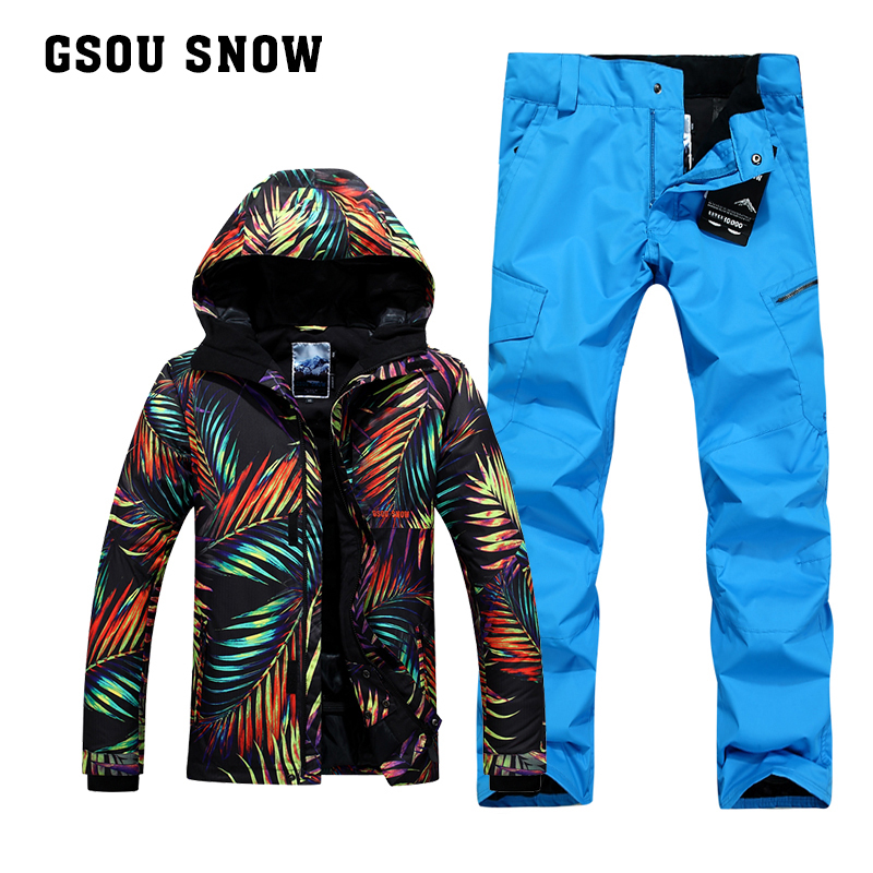 [해외]Gsou 눈이 더블 스노우 보드 정장 남자 정장 야외 겨울 짙어지면서 스키 복 windproof 및 방수/Gsou snow double Snowboard suit  men`s suit  outdoor winter thickening ski suit  windpr