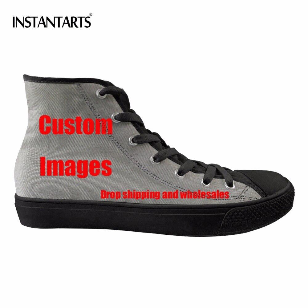 [해외]Instantarts 사용자 정의 자신의/이미지/로고 인쇄 여자 남자 스케이트 보드 신발 클래식 높은 상위 캔버스 신발 통기성 스포츠 신발/Instantarts 사용자 정의 자신의/이미지/로고 인쇄 여자 남자 스케이트 보드 신발 클래식 높은 상