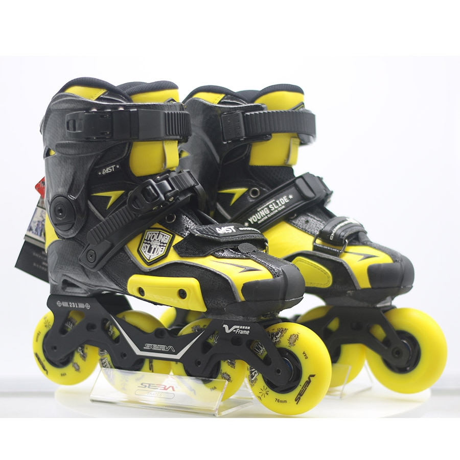 [해외]100% Original 2019 SEBA IGOR2 MST YOUNG Slide Adult Inline Skates Roller Skating Shoes Flat Frame Slalom Sliding FSK Patines/100% Origin