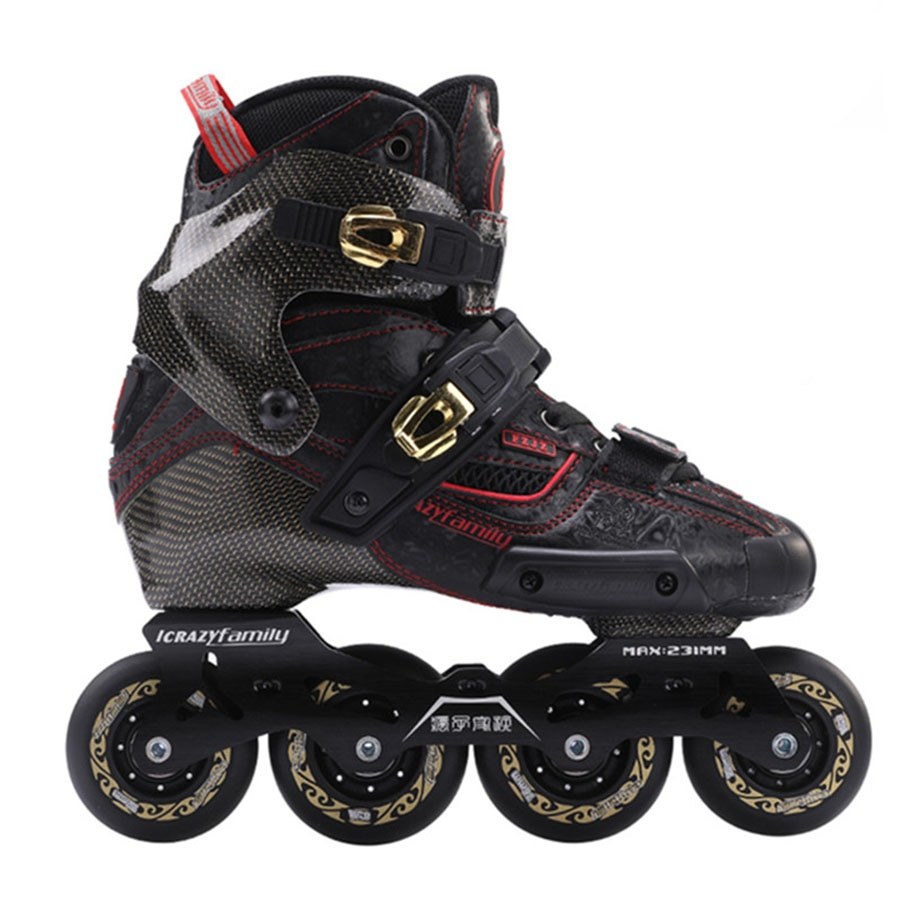 [해외]2019 Crazy Carbon Fiber Professional Slalom Inline Skates Adult Roller Free Skating Shoes Sliding Patines Similar With SEBA IGOR/2019 Cr
