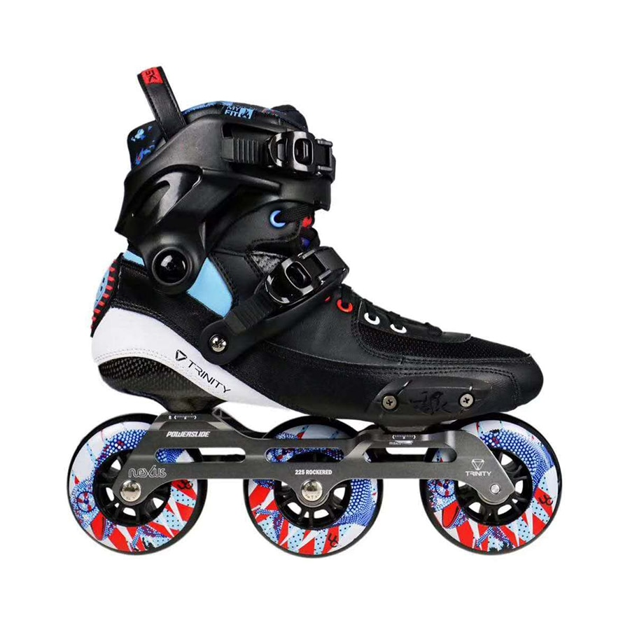 [해외]2019 Original Powerslide TAU TRINITY 3*84/90mm Carbon Fiber Speed Inline Skates Adult Roller Skating Shoes Free Skating Patines/2019 Ori