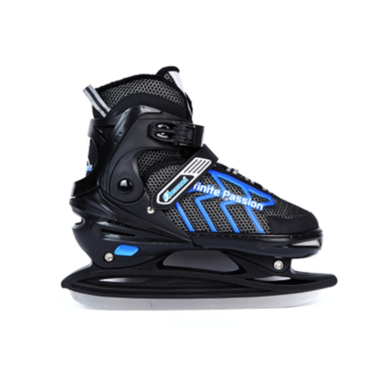 [해외]Adult Child Adjustable Ice Skate Tricks Shoes Ice Blade Skates Speed Skate or Ball Knife Ice Hockey Knife Real Ice Skateing ID11/Adult C