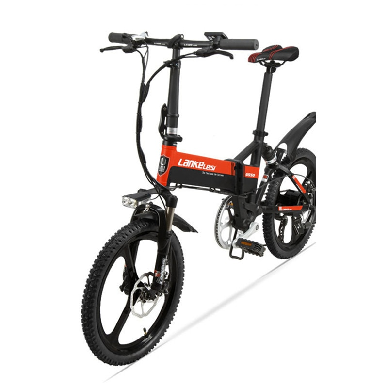 [해외]Folding Electric Bicycle Two Wheel Electric Bicycle 20 Inch 48V 240W Motor Lightweight Aluminum Alloy Protable Electric Bike/Folding Electric Bicy