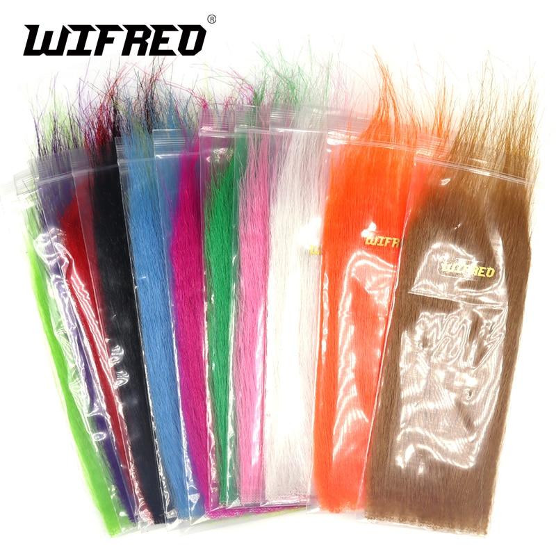 [해외]Wifreo 12packs 믹스 컬러 롱 파이버 플라이 타잉 공예 모피 스 트리머 미끼 플라이 플라이 타잉 소재 연질 소프트 합성 섬유/Wifreo 12packs Mix Color Long Fiber Fly Tying Craft Fur Streamer Bait
