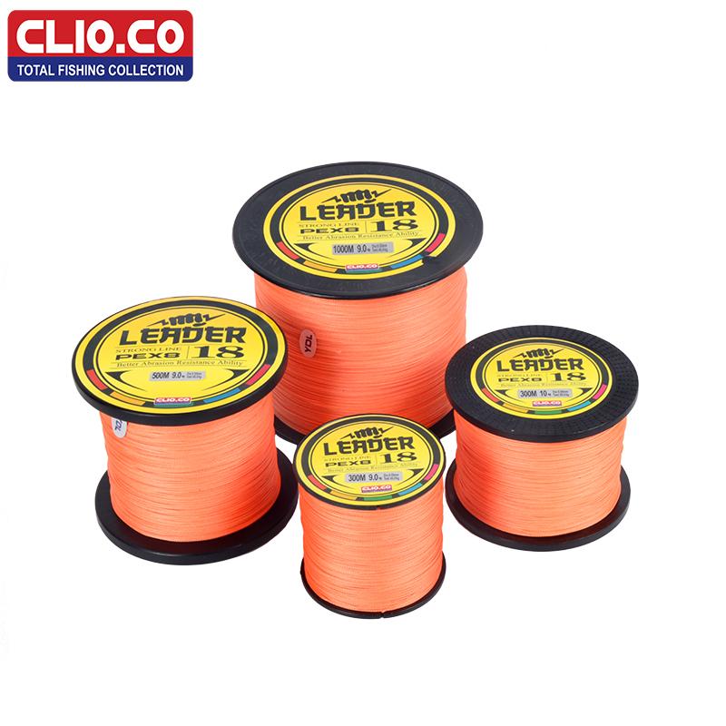 [해외]CLIO.CO 300M 500M 1000M 일본 멀티 필라멘트 오렌지 PE 낚시 라인 10-300LB 0.12-1.2mm 플라이 낚시 라인 페스 카/CLIO.CO  300M 500M 1000M Japan multifilament orange PE Fishing
