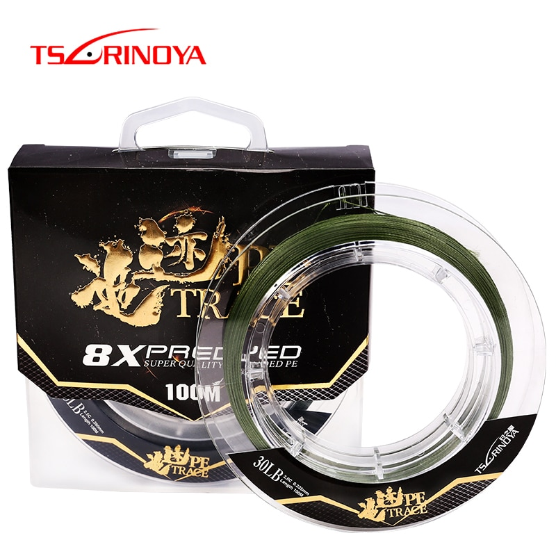 [해외]/TSURINOYA 8 Braided PE Fishing Line TRACE 100m 20-35lb Multilament Strong Fishing Lure Line Freshwater Saltwater Fishing Line