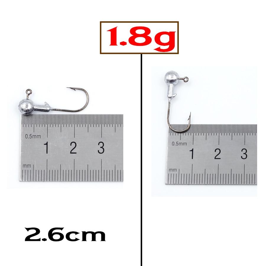 [해외]Jighead 낚시 후크 15pcs 1.8 g-2g 2.6 cm 미니 소프트 미끼 미끼에 대 한 지그 리드 머리 잉어 플라이 낚시 후크/Jighead Fishing Hook 15pcs 1.8g-2g 2.6cm For Mini Soft Lures Baits Jig