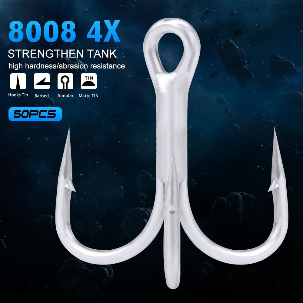 [해외]Saltwater 50pcs/lot Fishing Hook Smooth Tin Layer FLYBASS Hook  4/0-3/0-1/0-1-2-4-6 High Carbon Steel Fishhook 4XBKB Hook/Saltwater 50pc