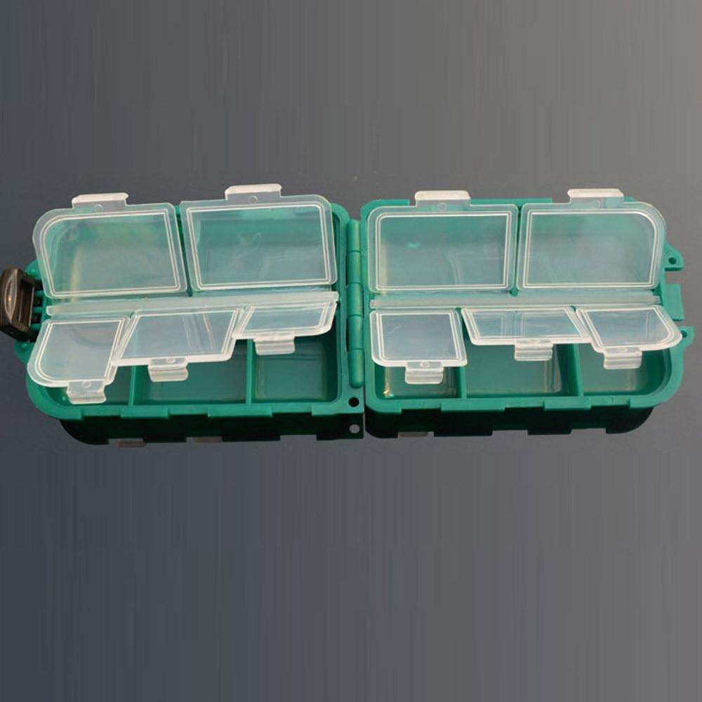 [해외]10 Grid Fishing Gear Box Bait Bait Hook Storage Small Box Hook Box Accessories Kit Tool Plastic Durable Sea Dropshipping0408/10 Grid Fishing Gear