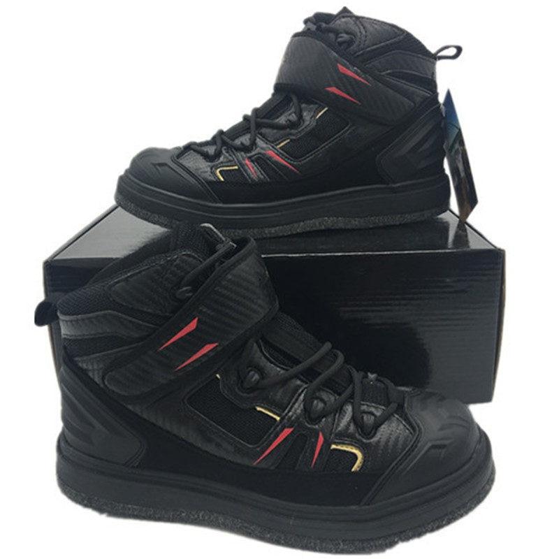 [해외]/High-Jump Outdoor Rock Fishing Waders Shoes Slip-Resistant Mesh Breathable Fabric Waterproof Felt Spike Soles Fishing Waders