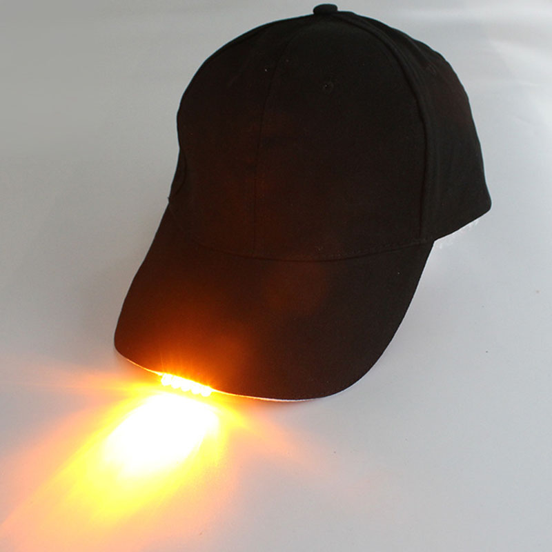 [해외]Led 램프 모자 순수 코 튼 빛나는 캠핑 조명 야구 밤 낚시 모자/Led 램프 모자 순수 코 튼 빛나는 캠핑 조명 야구 밤 낚시 모자