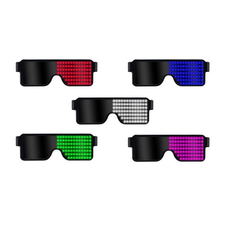 [해외]LED USB Rechargeable Light Up Glow Sunglasses8 Animation Modes For Halloween Christmas and Various Festival Party292221/LED USB Rechargeable Light