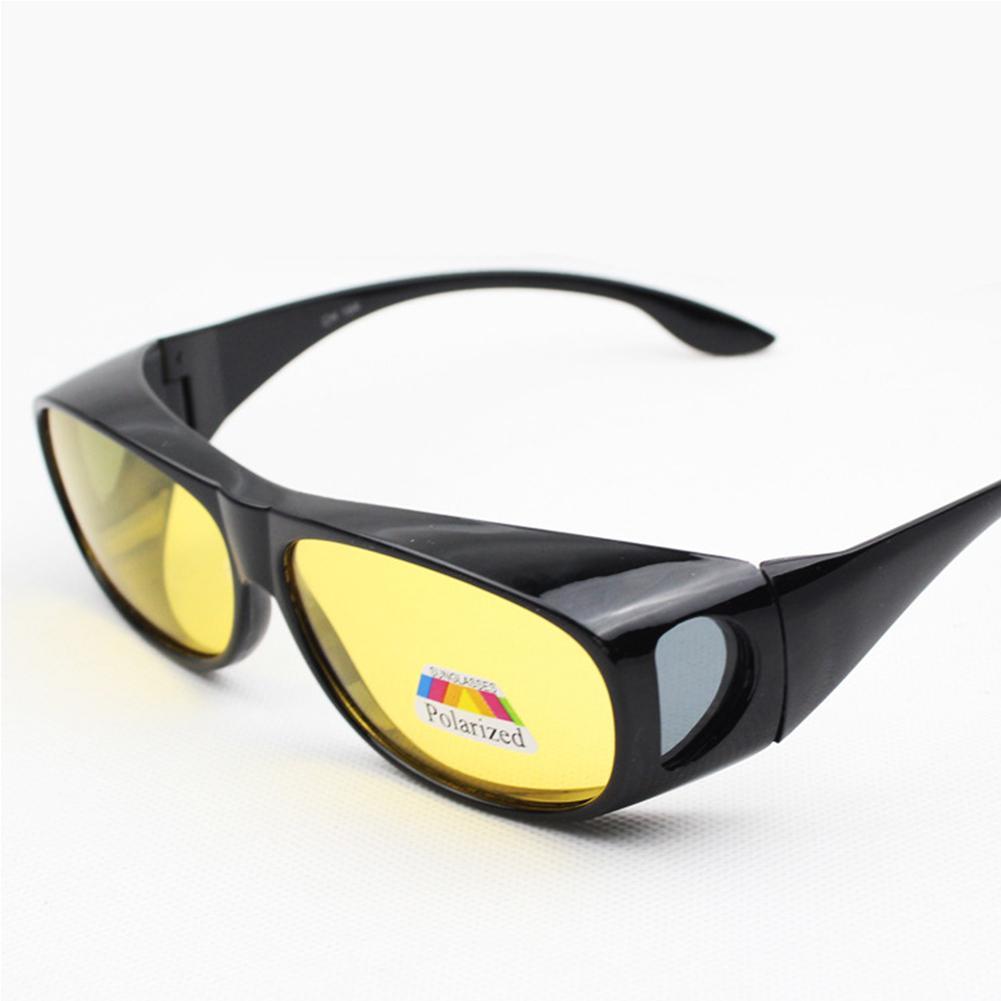 [해외]Mounchain UniFishing Eyewear UV Protect Yellow Lens Classic Driving Sunglasses Wear over Prescription Night Vision Glasses /Mounchain UniFishing E