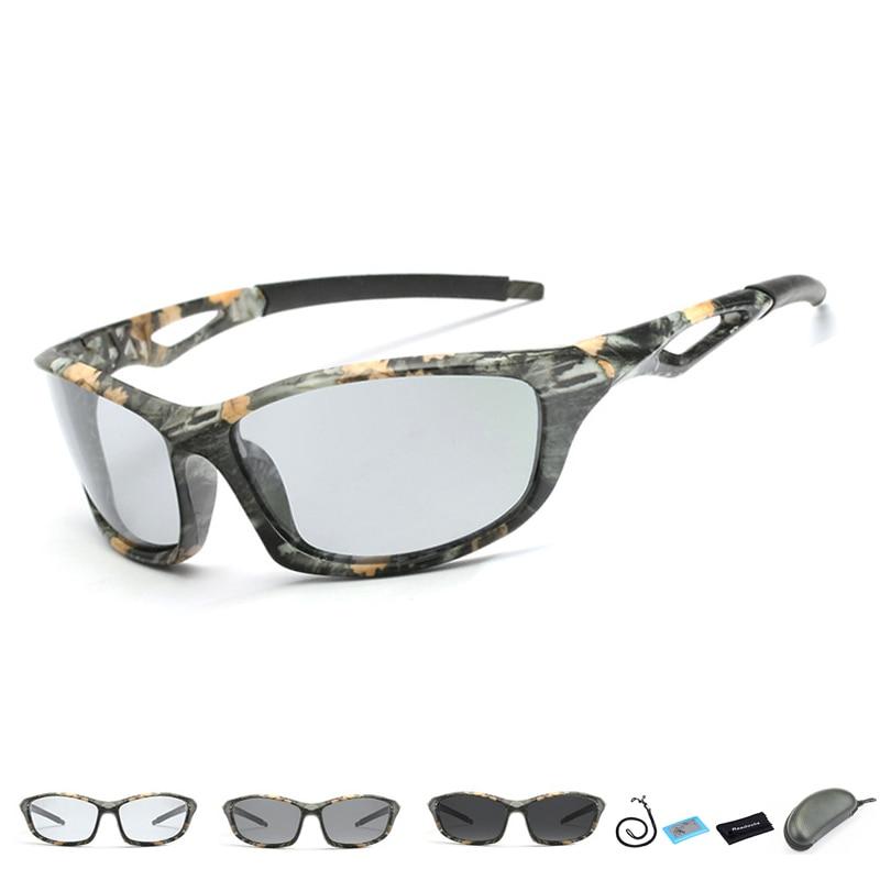 [해외]2019 New Polarized Photochromic Fishing Glasses Outdoor Sports Sunglasses Men Wome Cycling Driving Fishing EyewearRope/2019 New Polarized Photochr