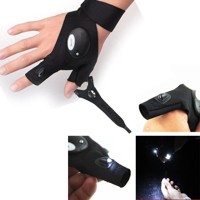 [해외]NEW Ultra-durable&Waterproof Bright LED Light Gloves cotton Finger Lighting Auto Repair Outdoor Night Fishing hunting Artifact/NEW Ultra-durab