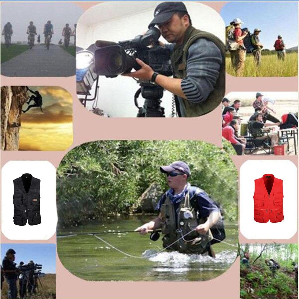 [해외]남자 유틸리티 멀티 포켓 우편 사냥 낚시 여행 야외 조끼 레드 xl/남자 유틸리티 멀티 포켓 우편 사냥 낚시 여행 야외 조끼 레드 xl