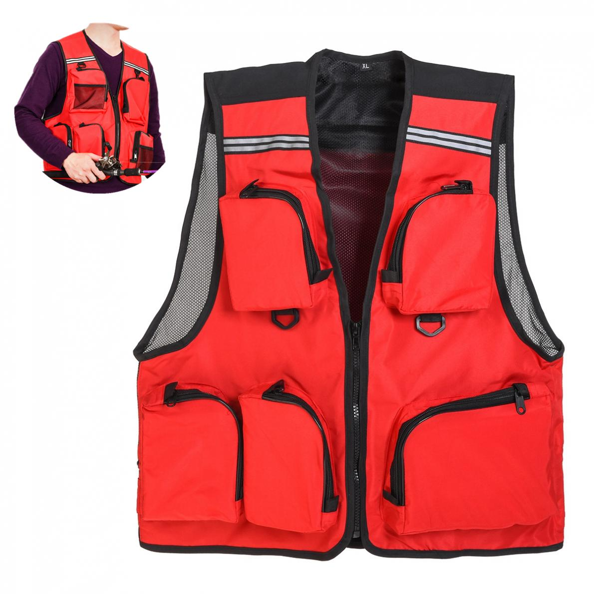 [해외]5 Pocket Quick Dry Mesh Waistcoat Jacket Outdoor Sport Thin Breathable Fishing Vest/5 Pocket Quick Dry Mesh Waistcoat Jacket Outdoor Sport Thin Br