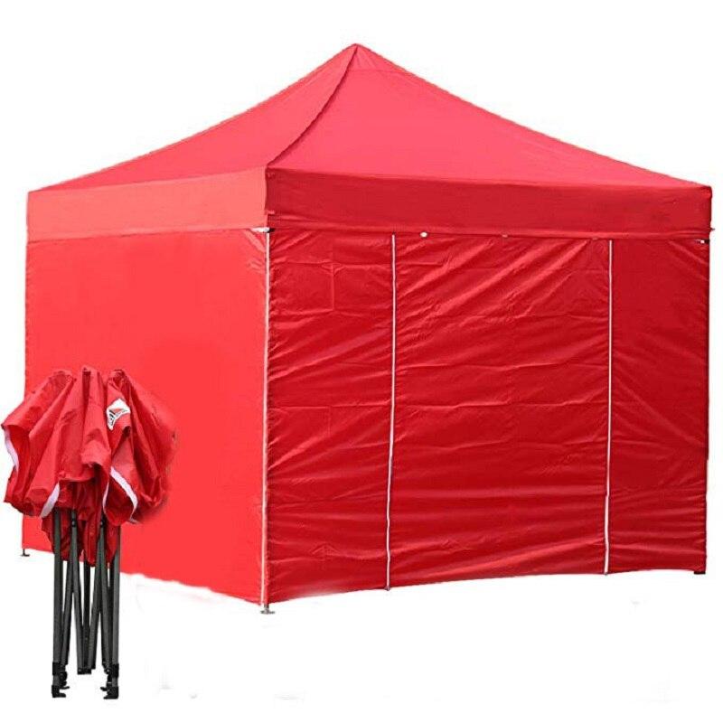 [해외]GRNTAMN 10ft by 10ft Ez Pop up Canopy Tent Commercial Instant Gazebos4 Removable Sides and Bag Blue and Red/GRNTAMN 10ft by 10ft Ez Pop up Canopy