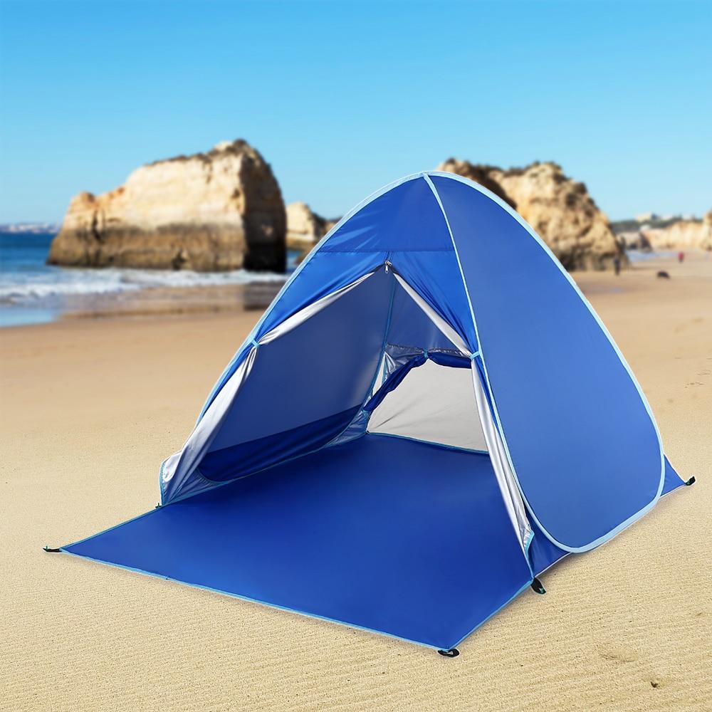 [해외]Lixada Camping Tents Sun Shelter Automatic Pop Up Beach Tent Fishing Cabana for 2-3 Person Awning Tent UV Protection Beach Shade/Lixada Camping Te