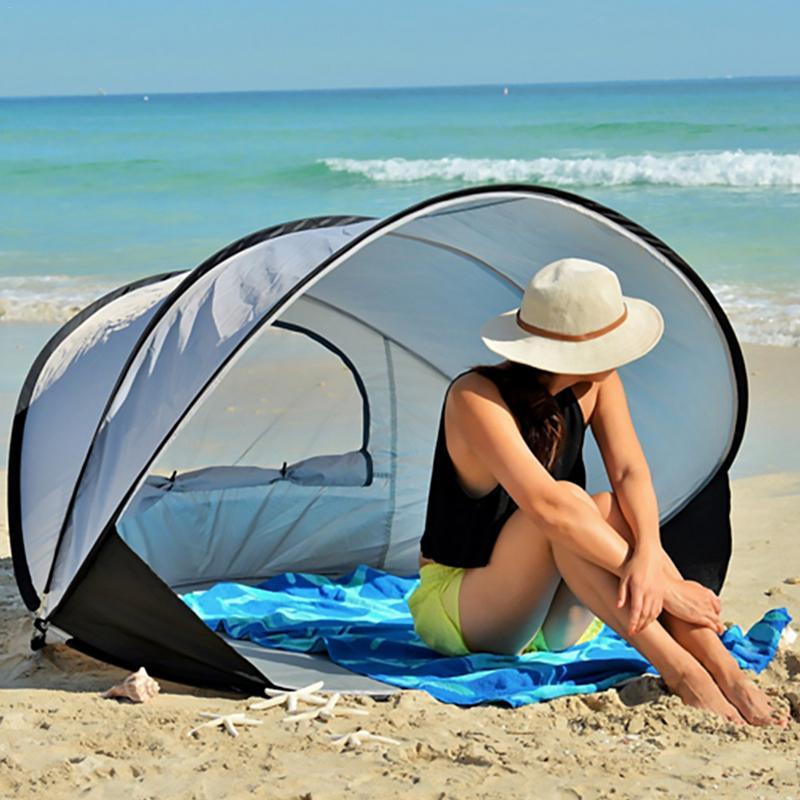 [해외]Multi-person Beach Tent Sun Shelter Quick Automatic Sun Shade Tent Windproof UPF40+ UV Protection Tent For Beach Fishing Camping/Multi-person Beac