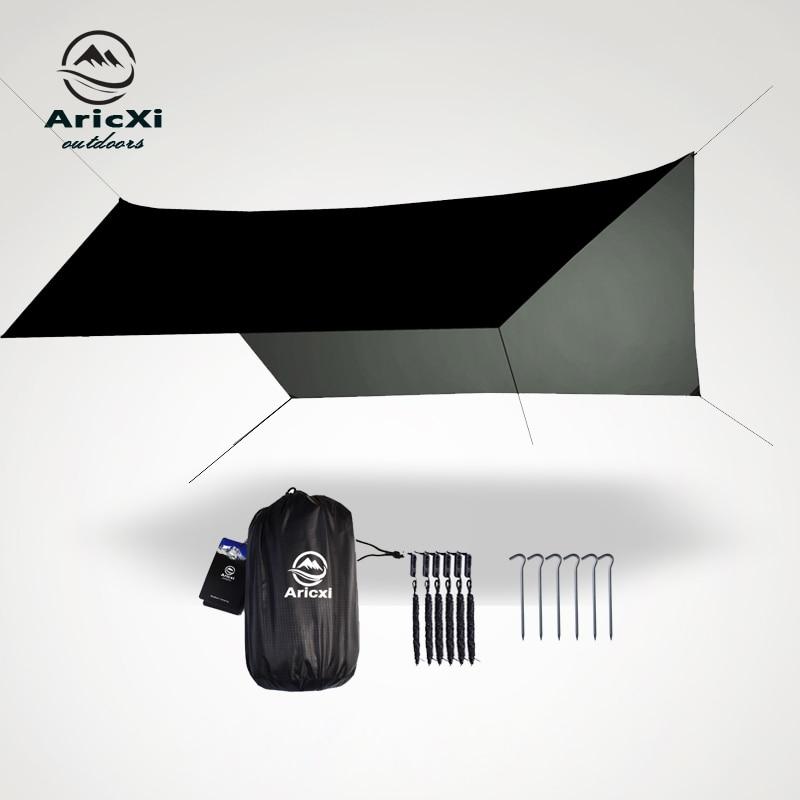[해외]3.6x2.8m Beach Sun Shelter Tarp Tent Shade Ultralight UV Garden Awning Canopy Sunshade Outdoor Camping Hammock Rain Fly/3.6x2.8m Beach Sun Shelter